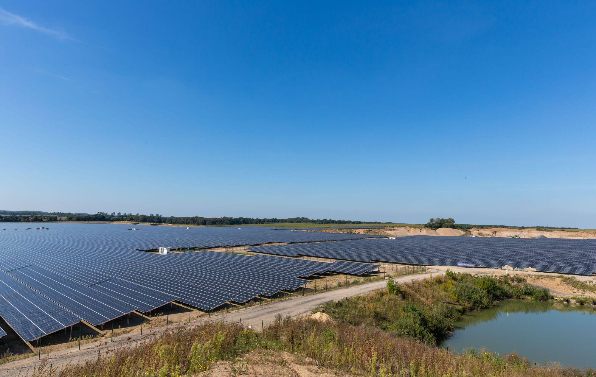 Der Solarpark in Zietlitz erbringt eine Leistung von mehr als 80 MWp. Stephan Rudolph-Kramer / WEMAG