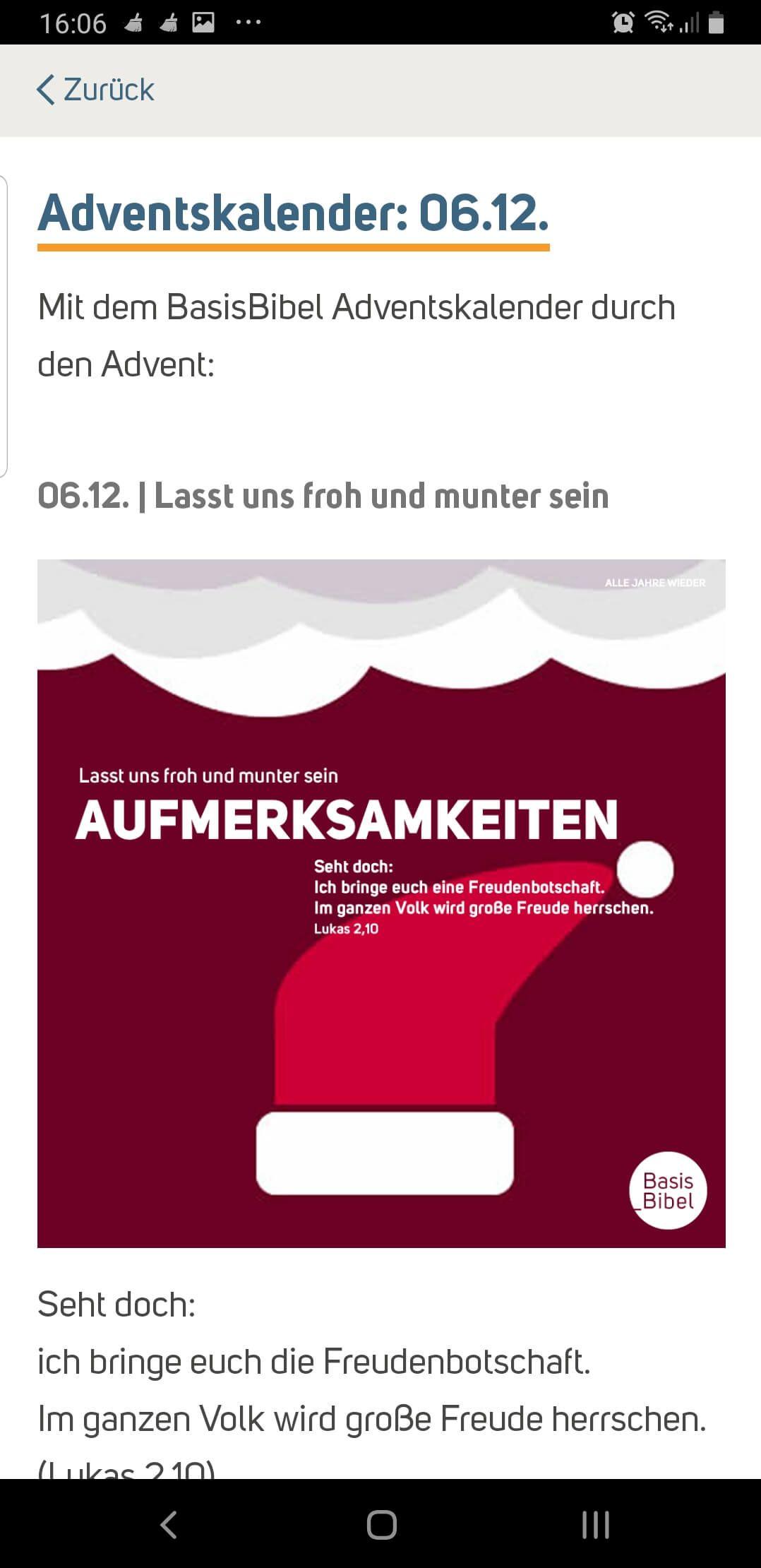 Ev. Landeskirche in Württemberg: 06.12.2019 Bibel-App auf